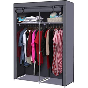 YOUUD Closet Organizer Wardrobe Portable Wardrobe Storage Clothes Closet  Portable Closet Rod Storage Closet Standing Closet