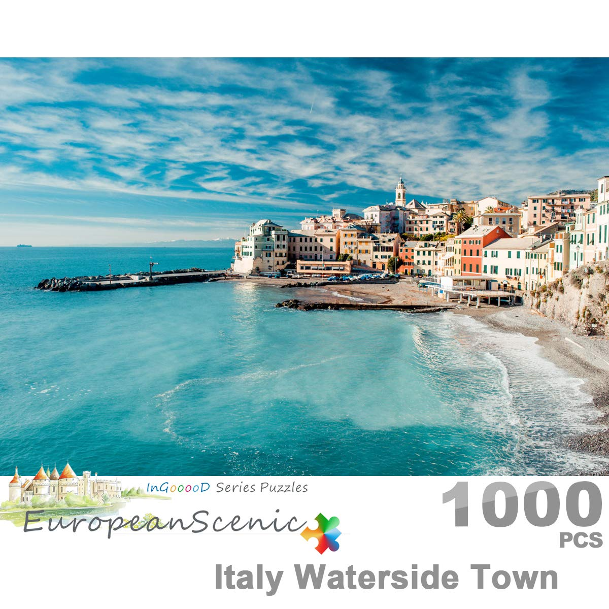 Italy Waterside Town/_IG-0375 Entertainment Toys for Adult Special Graduation or Birthday Gift Home Decor Jigsaw Puzzle 1000 Pieces European Scenic Series Ingooood