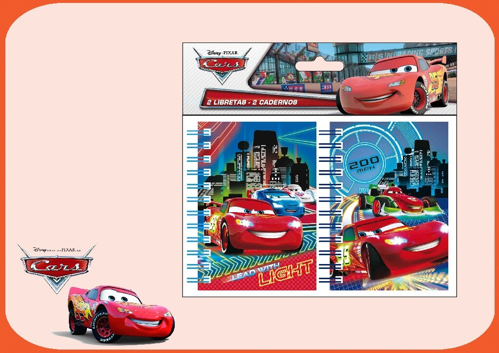 Cars as8463Quaderno A72pzs.Cars Exp: 12pcs Planet toys 8422535842757