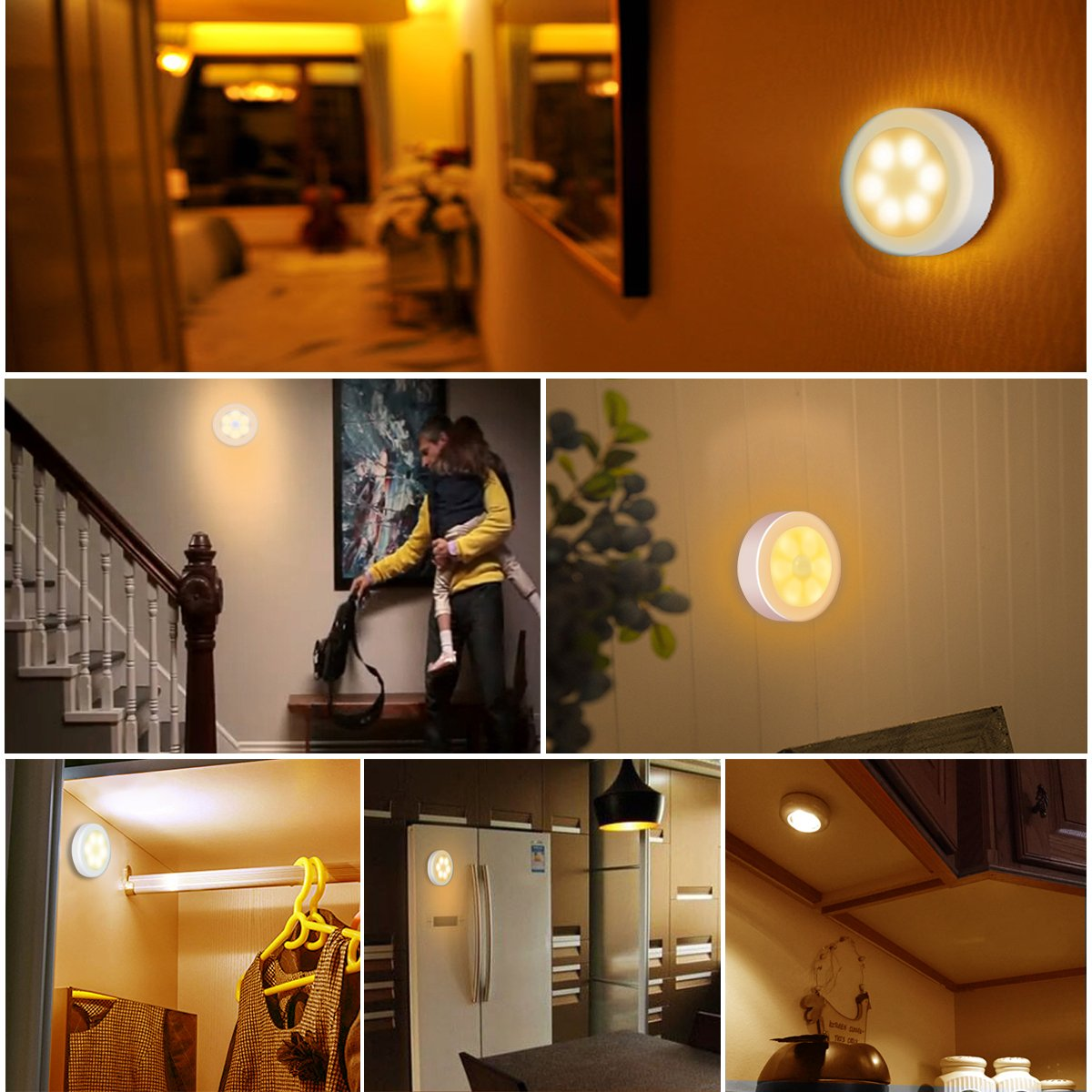 Awesome Battery Powered Hallway Lights