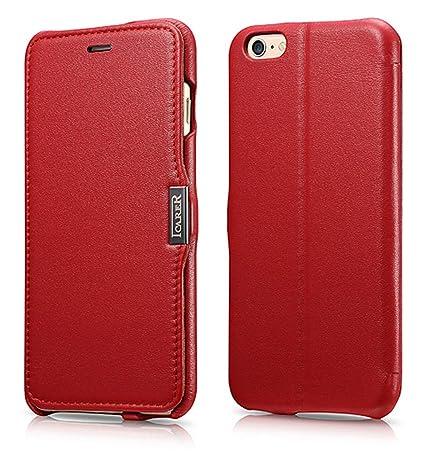 Luxus Tasche für Apple iPhone 6S Plus und iPhone 6 Plus (5.5 Zoll) / Case Außenseite aus Echt-Leder / Innenseite aus Textil /