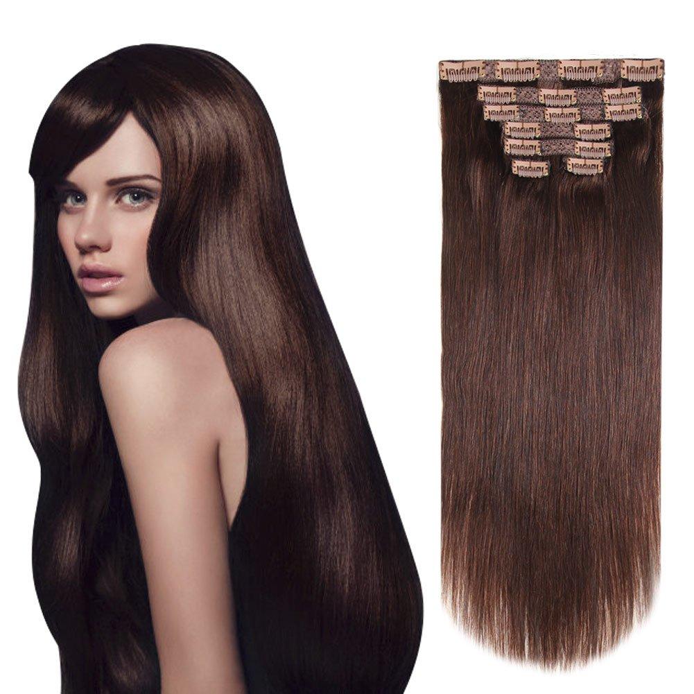 Amazon Heesaga 12 Inch Clip In Extensions Real Human Hair