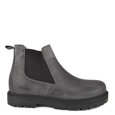 c02d3e61c178 Birkenstock Stalon Graphite Nubuk Leather Chelsea Boot 7.5 UK Graphite