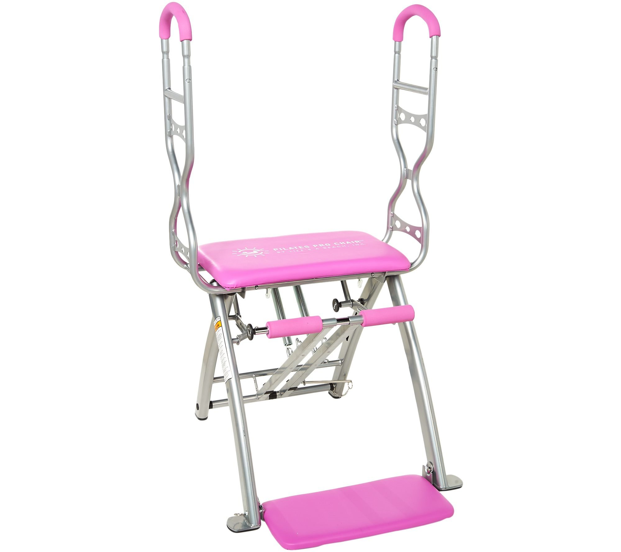 Pilates PRO Chair Max with Sculpting Handles by Life's a Beach With Videos Dream Body Workout (Pink)