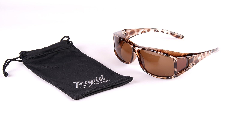 Rapid Eyewear SUR-LUNETTES DE SOLEIL POLARISÉES FEMMES écaille de tortue,  pour course à pied, cyclisme, ... 16e1fe69e38a