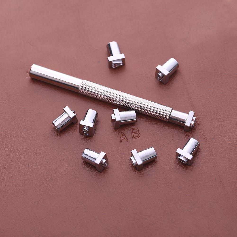 Metalli UEB 36pcs Set Punzoni Lettere e Numeri in Acciaio per Metallo e Cuoio Strumento per Timbri per Legno 6MM Pelle