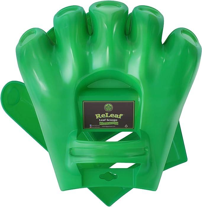 GARDEASE Leaf Scoops | Hand Rake Grabber Tool | Scoop Leaves Easily | Garden & Yard Pickup | Gorilla Leaf Claws | XLarge Ergonomic Hands Design | 1 Pair