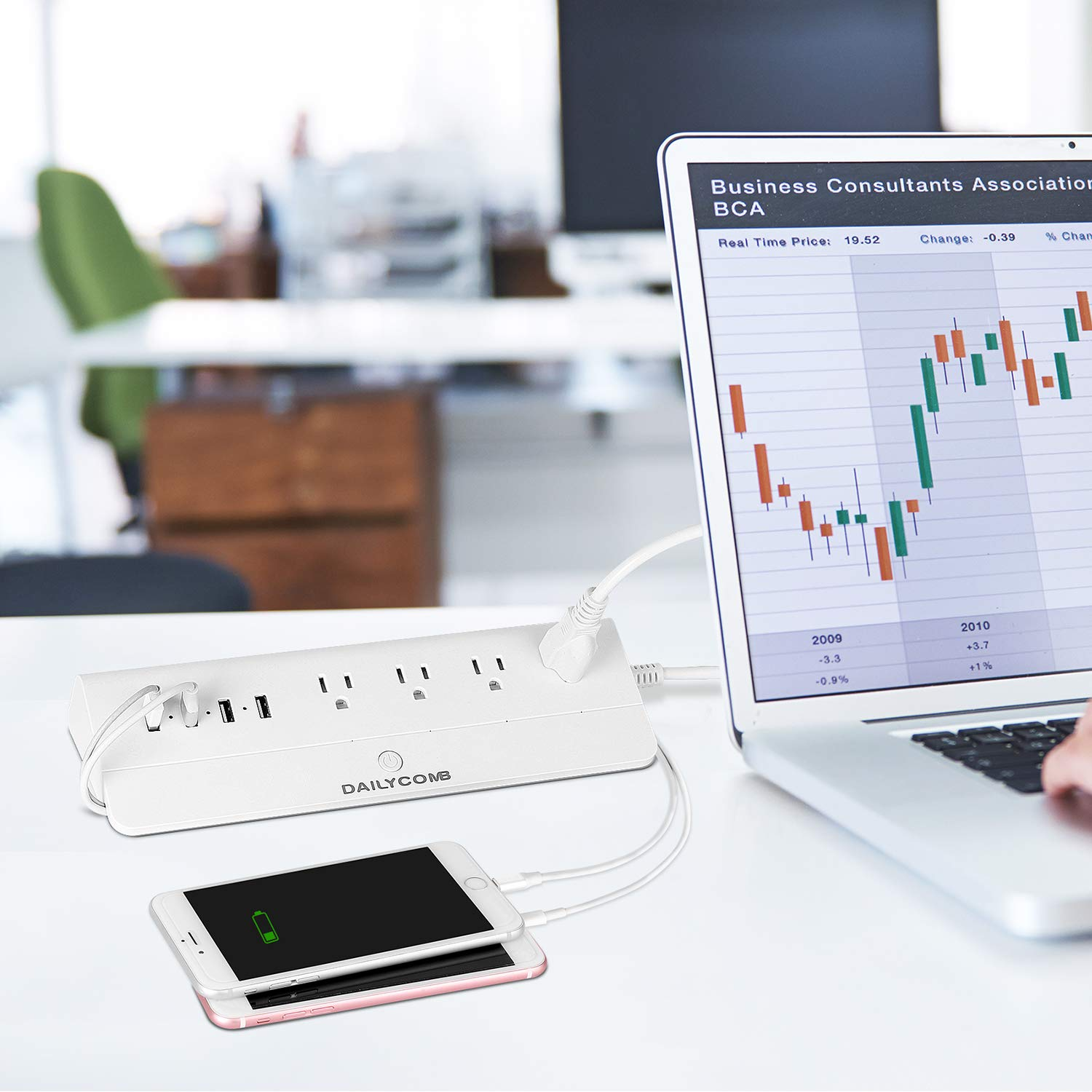 4 USB Charging Stations and 4 Independent Smart Plugs DAILYCOMB Smart Power Strip 6 Feet Extension Cord -White Multiple Outlets WiFi Surge Protector Compatible with Alexa /& Google Home