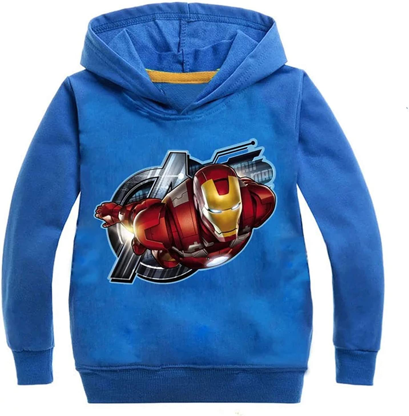 2T-14 Years KK-Jim Kids Iron Man Pullover Hoodies-Avengers End Game Sweatshirts Hooded Tops for Boys Girls