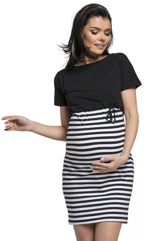 Happy Mama. Donna l'Allattamento Due Pezzi Vestito Top Separato Prémaman.127p 127_maternity