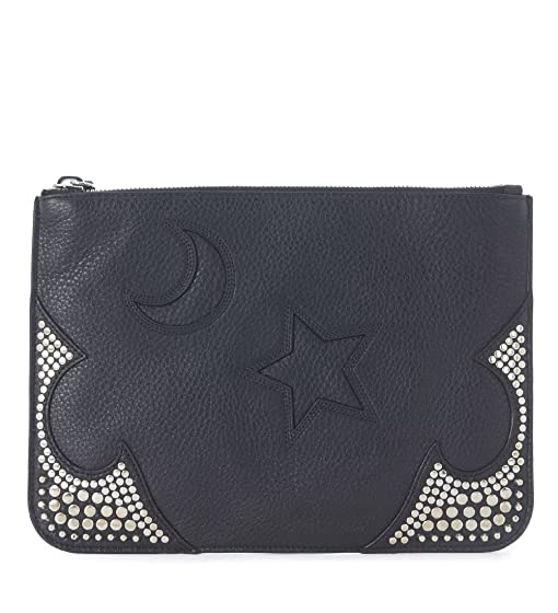 Womens Pouch On Sale, Black, Leather, 2017, one size McQ by Alexander McQueen