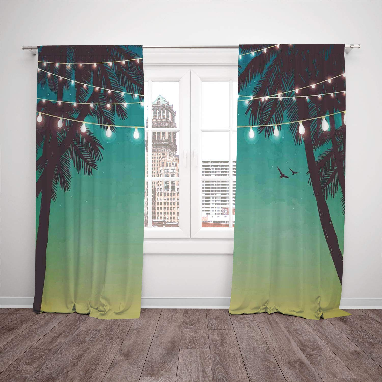 Thermal Insulated Blackout Window Curtain Apartment Decor Night