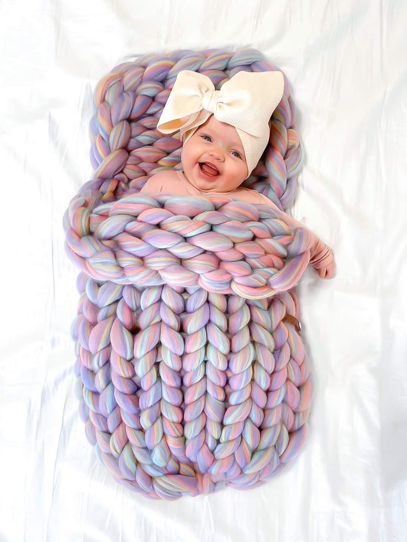 newborn blanket girl blanket,gift for baby girl natural wool baby blanket gift for newborn hand knitted pink merino wool Baby blanket