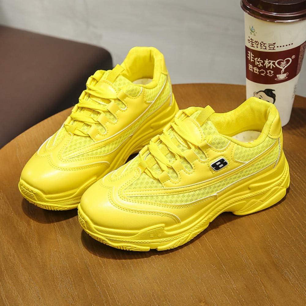 Desconocido Generic yuyu19-xie Papa - Zapatillas de Malla Transpirable para Mujer, Amarillo, 38: Amazon.es: Deportes y aire libre