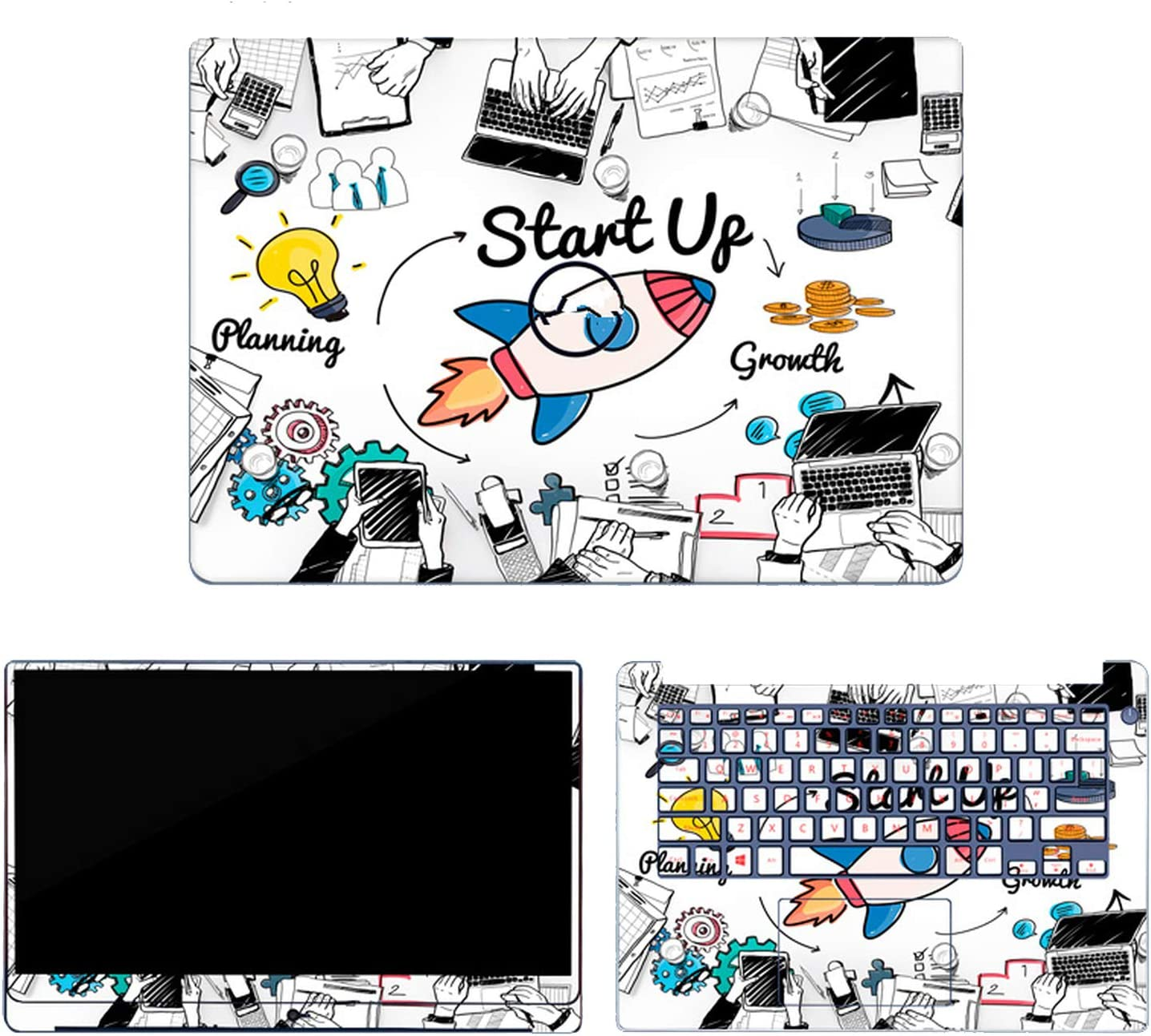 """Marble Grain Laptop Skin Stickers Compatible for Dell G3 G5 G7 Vinyl Decal Notebook Sticker Compatible for Dell 3579 3590 7590 15.6"""" 14"""" Cover,Compatible for Dell 3579,14"""