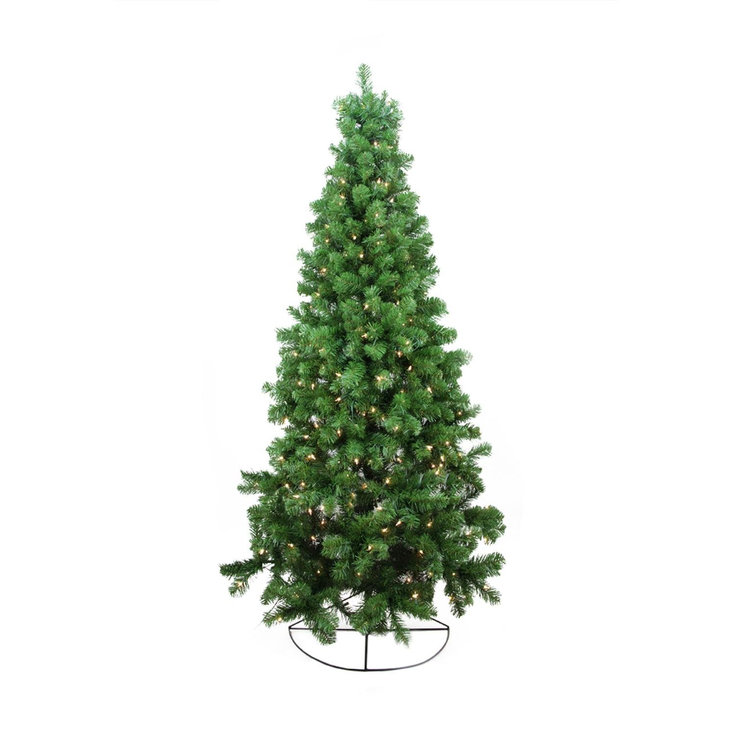 Northlight Pre-Lit Pine Artificial Wall Christmas Tree with Clear Lights, 6'