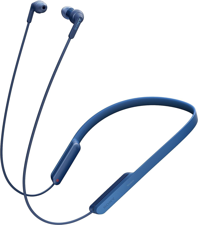 Sony MDR-XB70BT - Auriculares Bluetooth de contorno de cuello (EXTRA BASS, NFC, manos libres para Apple iPhone y Android, autonomía de 9 h), color azul