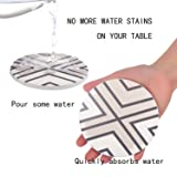 Seamersey Coasters for Drinks Absorbent Geometric