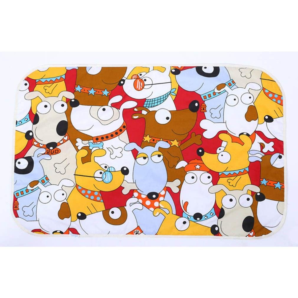 Ikevan Newborn Baby Waterproof Pad 3 Layer Sandwiched Cotton Baby Urine Mat (F)