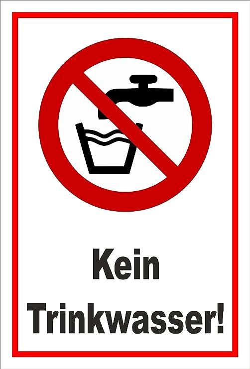 Schild Kein Trinkwasser Entspr Din Iso 7010 Asr A1 3