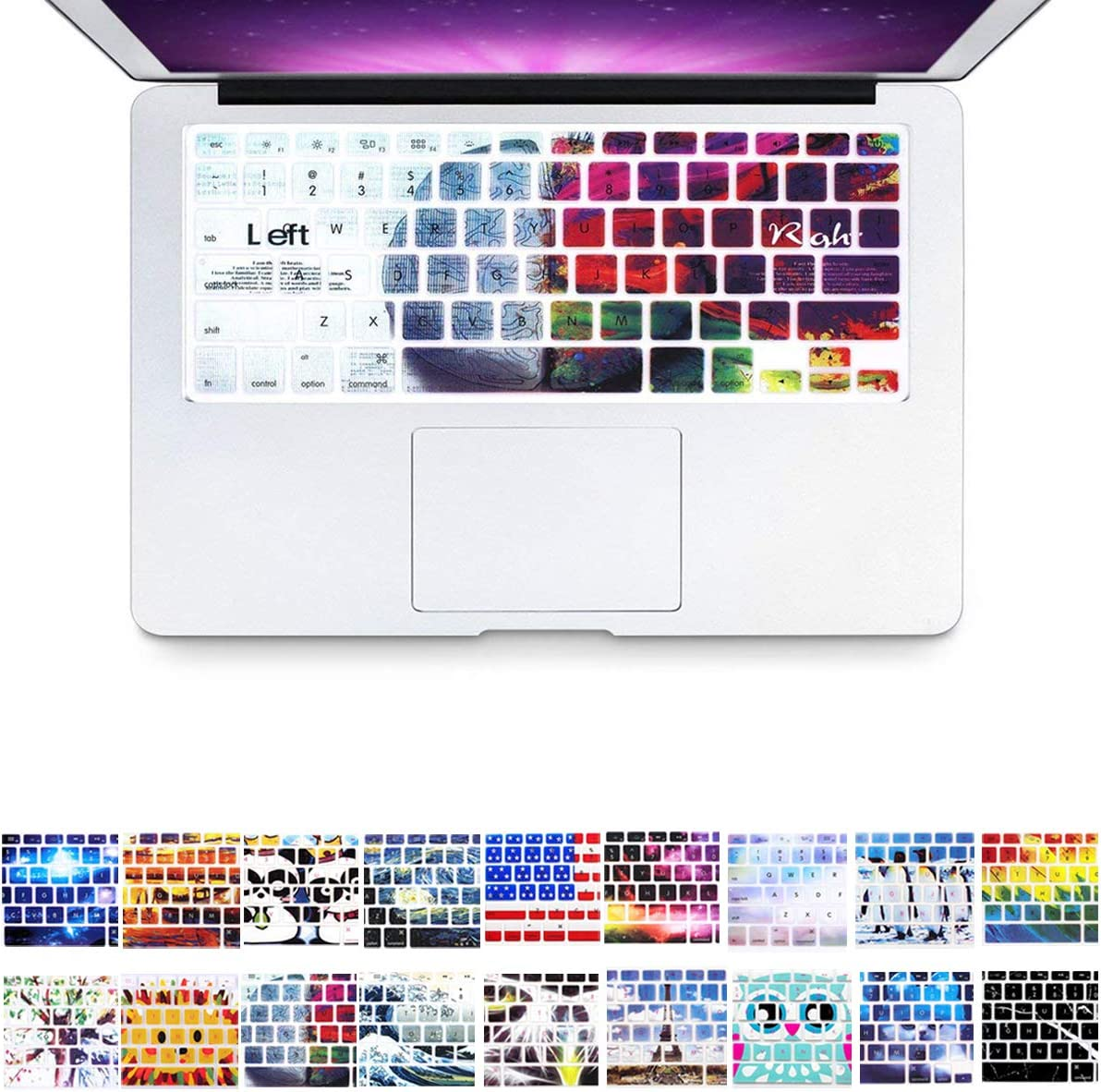 15 inch Left /& Right Brain Air 13 inch Keypad Dust-proof Membrane PapyHall Colorful Silicone Protector Keyboard Cover Skin for Macbook Pro 13 inch