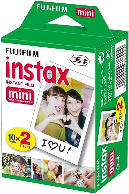 Fujifilm Instax Mini Brillo - Pack de 40 Películas Fotográficas Instantáneas (40 hojas), Color Blanco: Amazon.es: Electrónica