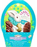 Ghirardelli Easter Milk Chocolate Caramel Filled Bunnies and Eggs, 2.7 Ounce