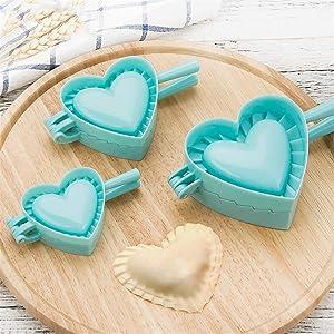 RoseFlower 3PCS Dumpling Maker and Cutter, Plastic Dumpling Ravioli Skin Maker Press/Pie Mold Dough Stamp Dumpling Wrapper Dough Stamp Cutter Pastry Pie Making Tool#1