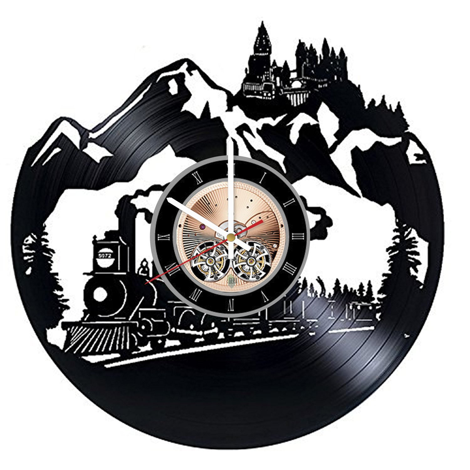 Hogwarts Harry Potter Vinyl Record Wall Clock - Get unique Kids Room wall decor - Gift ideas for children, baby – Movie Unique Modern Art