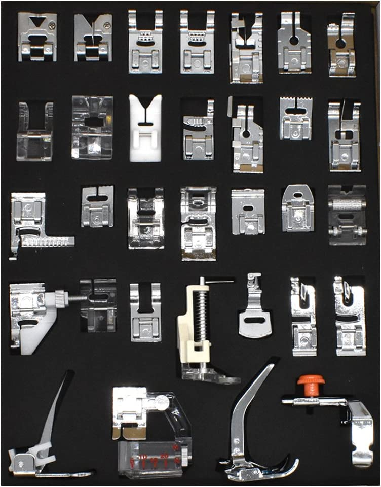 Pfaff Kenmore BIGTEDDY 15pc Domestic Sewing Machine Snap-On Presser Walking Foot Kit For Brother Babylock Necchi Riccar Singer Janome