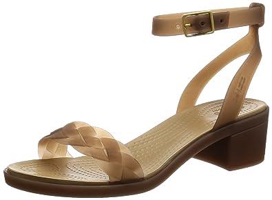 a593aa67cc80 Crocs Women s Isabella Block Heel Sandal Heeled