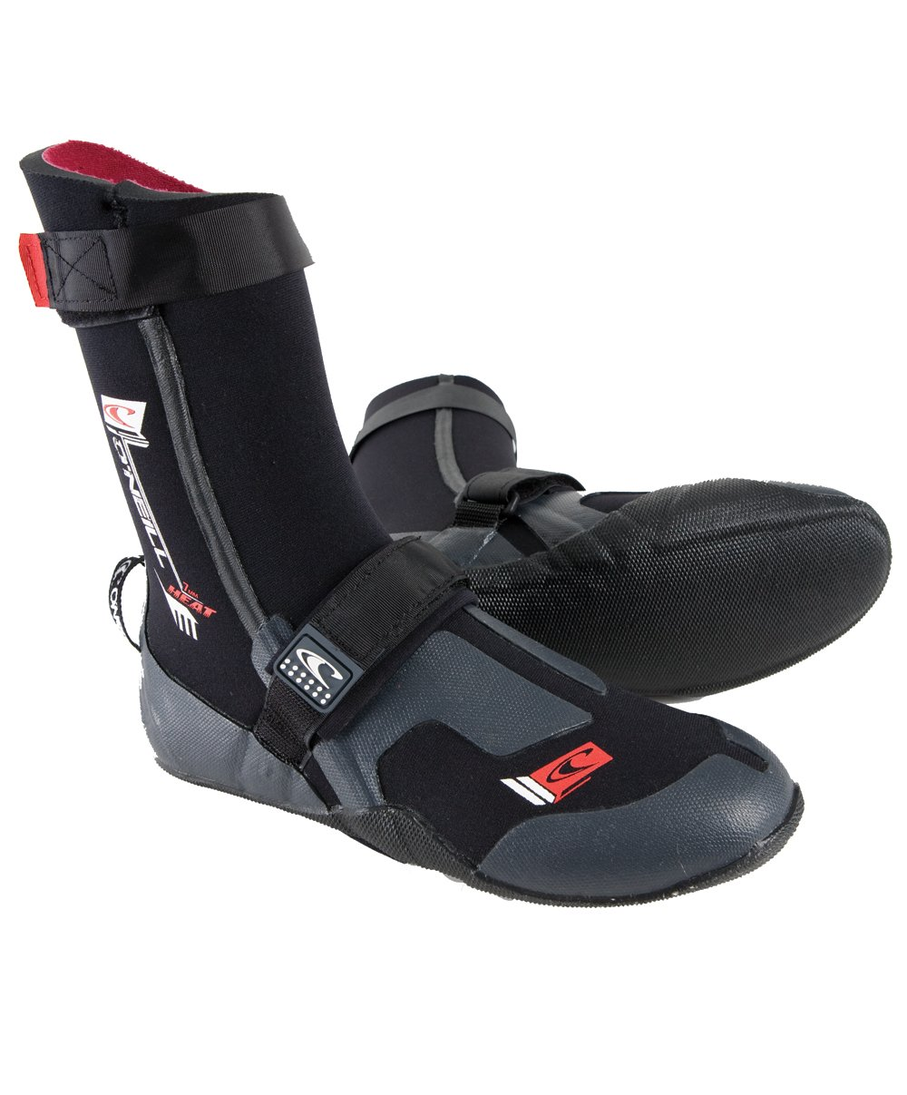 Amazon.com : O'Neill Wetsuits Mens Heat 7mm Round Toe Boot, Black, Size -  13 : Surfing Booties : Sports & Outdoors
