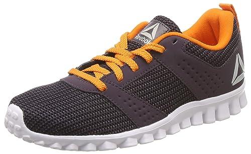 Reebok Boy s Breeze Run Jr Black Bright Lava Running Shoes-13.5 UK India bbb0254b4
