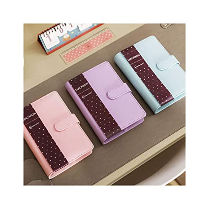 Macaron - Cuaderno de espiral de piel tamaño A5, A6, agenda ...