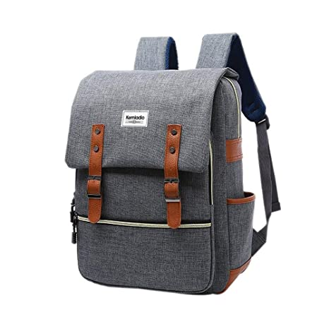 ee592b021430 Amazon.com  Kemladio Vintage Backpack 15.6 Inch Slim Laptop Bag ...