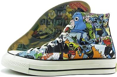 Converse Chuck Taylor All Star High '70 x DC Comics Batman Black Print Comics 155359C 'Inkl. Gummi Sammleretikett, das im Dunkeln leuchtet' Limited