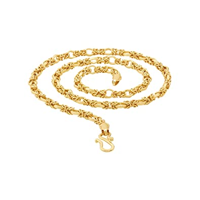 db08cb69ee196b Voylla Gold Plated Chain for Men (8907617435039)  Amazon.in  Jewellery