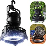 LED Camping Lantern Portable Tent Light with Ceiling Fan for Hiking, Emergencies Camping Lamp