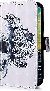 Uposao Compatible con Samsung Galaxy A10 Funda Carcasa Piel ...