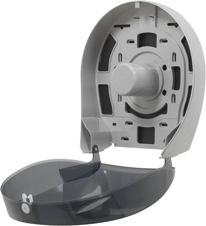 10.610 W x 5.390 /D x 11.290 H Translucent Smoke Georgia-Pacific Renewed Single-Roll Jumbo Toilet Paper Dispenser by GP PRO 59009