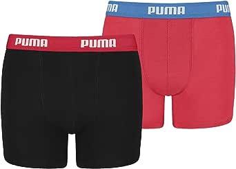 Puma – Calzoncillos para niño con alto contenido de algodón costumbre Buena Calidad de Puma marcas. Pack de 4, red/black, 122 cm-128 cm-4que empacar: Amazon.es: Ropa y accesorios