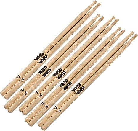 WHD Baquetas 5A de Nogal Pack de 5: Amazon.es: Instrumentos musicales