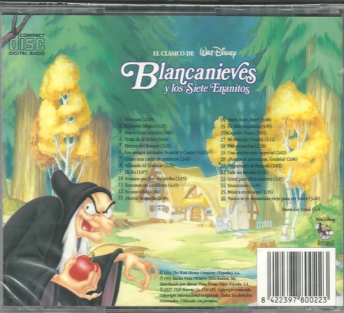 Blancanieves y los Siete Enanitos CD Walt Disney: Amazon.es: Música