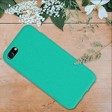 Carcasa Hecha de TPU y Trigo Natural ecol/ógico Azul Turquesa kalibri Funda Compatible con Apple iPhone 7//8 // SE 2020