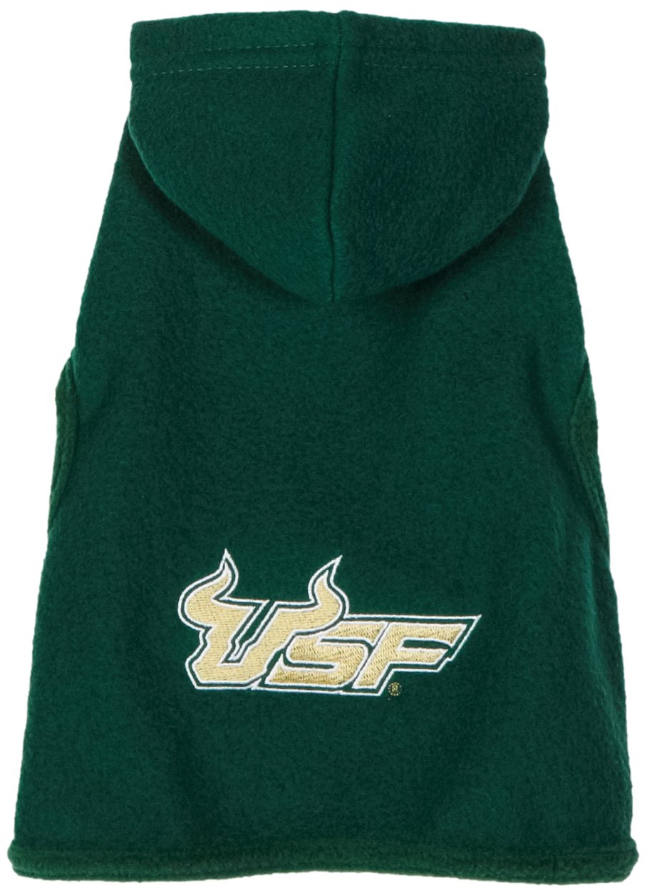 NCAA South Florida Bulls Polar Fleece Hooded Dog Jacket Tiny