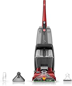Hoover FH50150 Power Scrub Deluxe Carpet Cleaner Machine, Upright Shampooer, Red