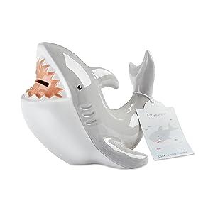 Baby Aspen Shark Piggie Bank Ceramic Coin Bank