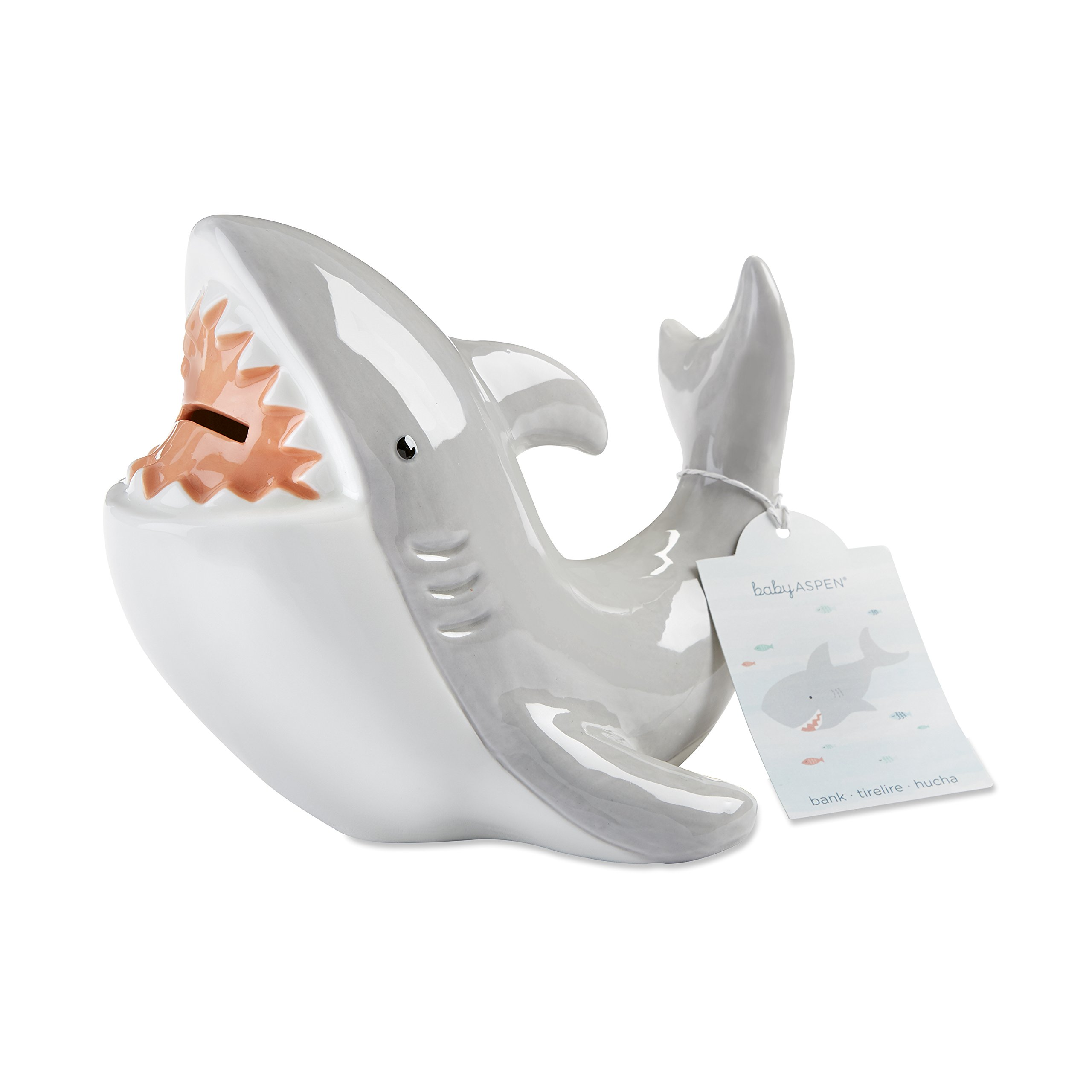 Baby Aspen Shark Piggie Bank Ceramic Coin Bank