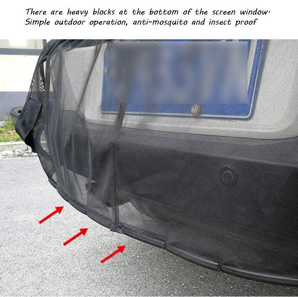 Xljh Auto-Fliegengitter Auto Heckklappe Magnet Moskitonetz Bel/üftung Camping Angeln Selbstfahrer Tour Gute Ausstattung schwarz