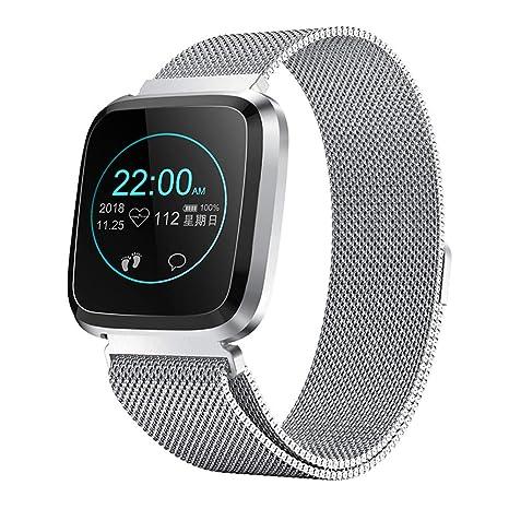 RanGuo Reloj Inteligente para Hombres Mujeres y niños, Deportes al Aire Libre Smart Watch para